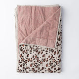 Leopard/Wiggles Double Sided Quilt French Flax Linen - Society of Wanderers