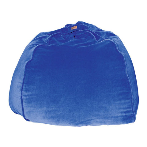 Electric Blue Velvet Beanbag