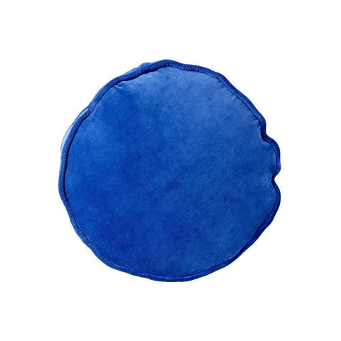 Electric Blue Velvet Pea Cushion