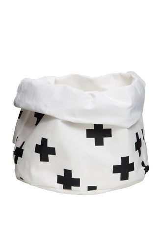 Wash Paper Bag Medium Black Cross