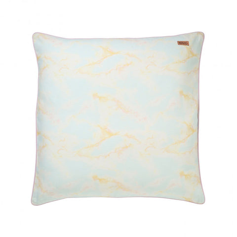 Marbling Blue Canvas Floor Cushion