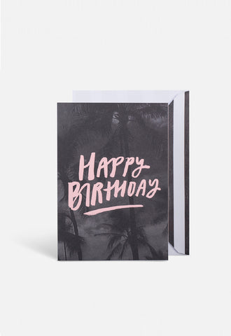 Birthday Palms Card - Blacklist