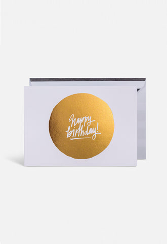 Happy Birthday Circle Card - Blacklist