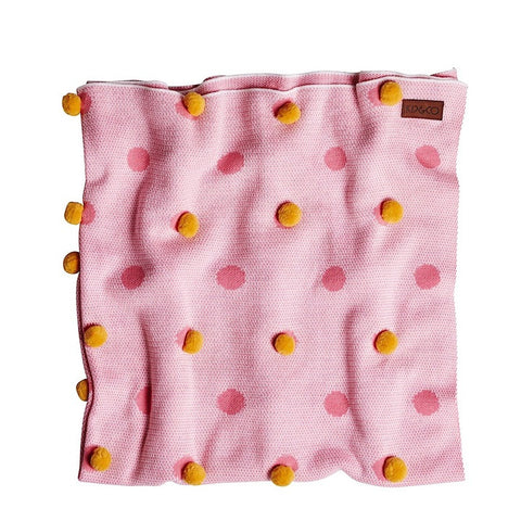 Eucalyptus Pom Pom Blanket Pink- May Gibbs Collection