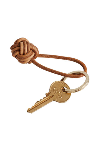 Leather Knot Keyring & Brass ring OYOY