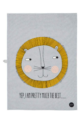 OYOY Lion Printed Artwork - Tea towel