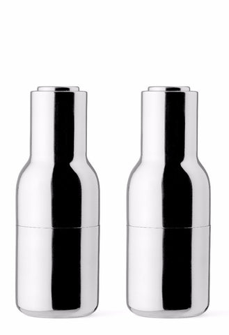 Menu Bottle Grinders Polished Stainless Steel