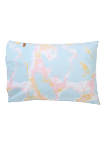 Marbling Blue Cotton Pillow Case Set