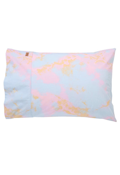 Marbling Pink Cotton Pillow Case