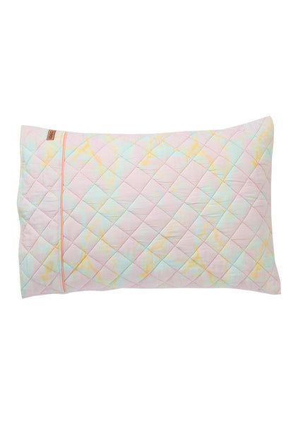 Marbling Lilac Quilted Cotton Pillow Case