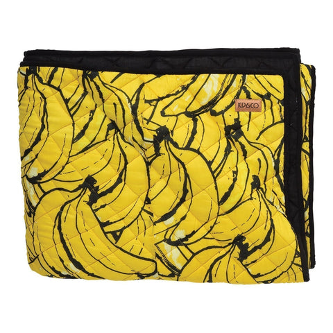 Bananas Quilted Bedspread -Single
