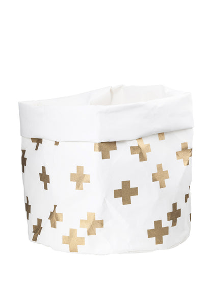 Wash Paper Bag Large Gold Cross