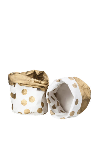 Wash Paper Bag Small Gold Spot