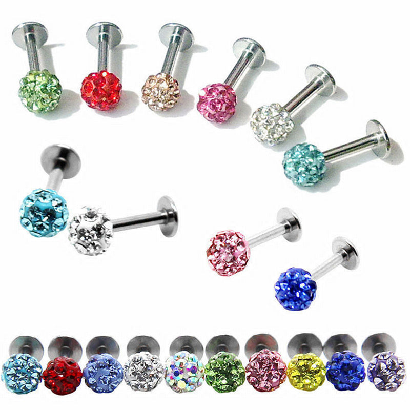 1 pcs Colorful Rhinestone Piercing Nose Lip Jewelry  Body Jewelry
