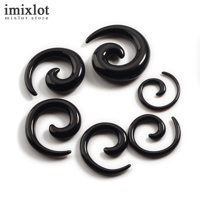 12Pcs/set Acrylic Spiral Ear Stretching Tapers Body Jewelry Mix Lots