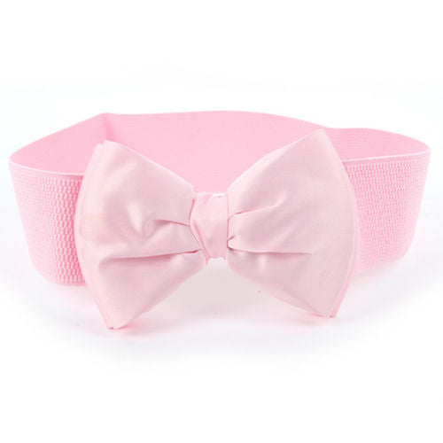 2017 New Arrival Fashion Women Lady Bowknot Stretch Elastic Bow Wide