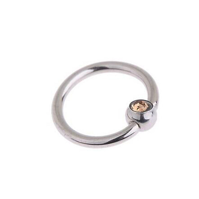 2Pcs 16G Surgical 316L Stainless Steel Hoop Bead Rings Eyebrow