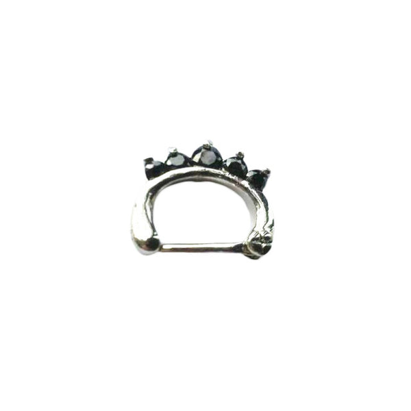 1 piece 2016 Surgical Steel Titanium 5 Crystal Nose Ring septum