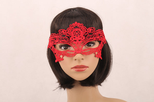 1Pcs Halloween Girls Women Black Red White Sexy Lady Lace Masks for
