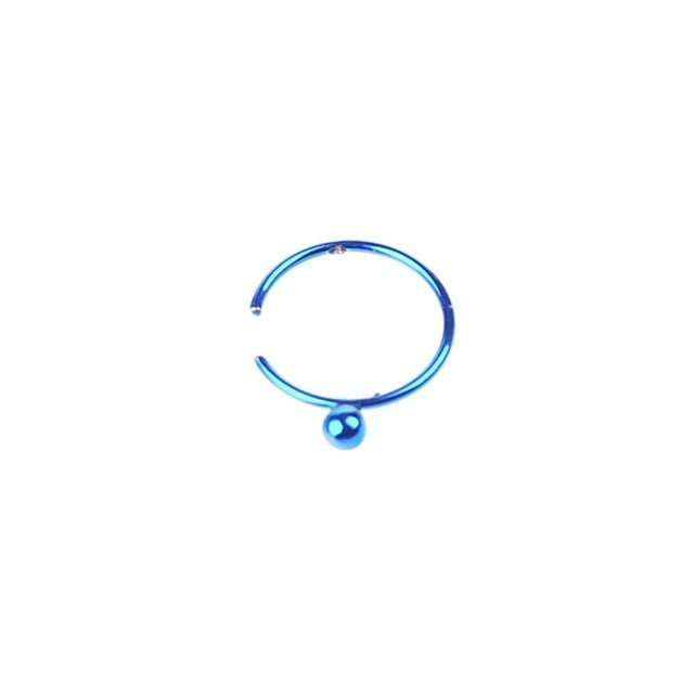 Stainless Steel Nose Rings Piercing Body Jewelry Nose Clip Hoop For