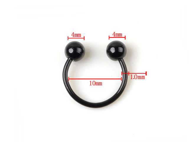1PC Black Stainless Steel Eyebrow Navel Belly Lip Tongue Nipple Labret