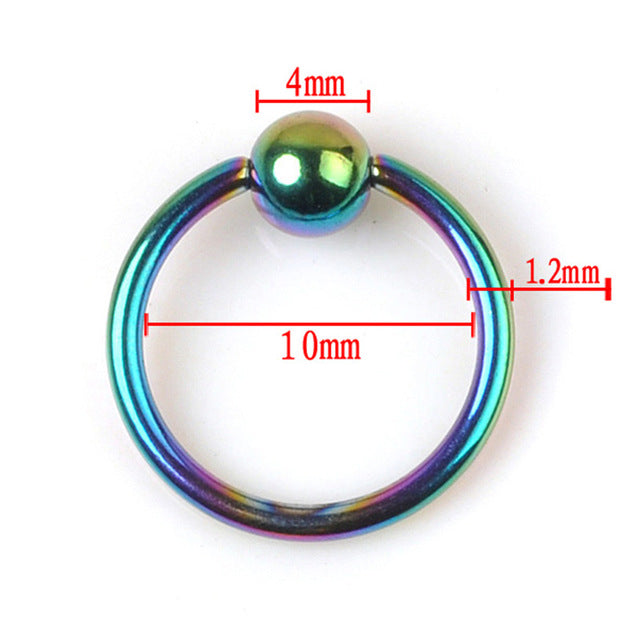 2pcs /lot Stainless Steel Captive Rings Eyebrow Tragus Nose Nipple