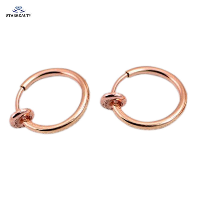 2 pcs Fake Nose Ring Goth Nose Rings Fake Piercing Lip 10mm Rose