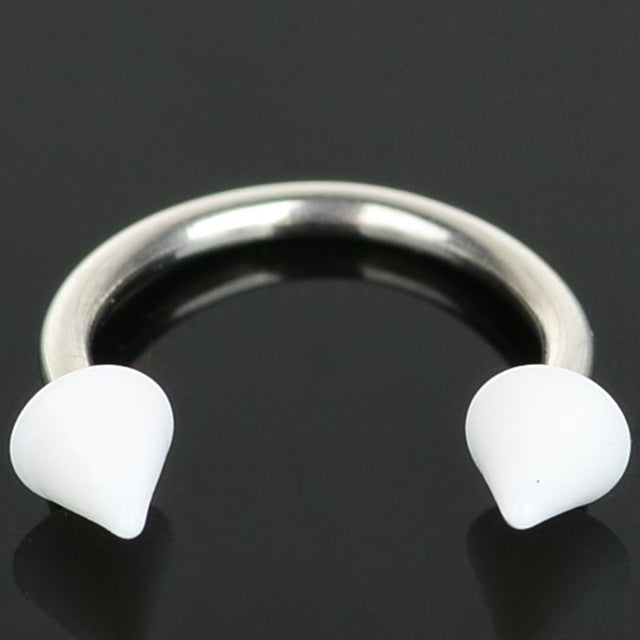 1pc Acylic Ball/Spike Barbells Horseshoe Fake Septum Nose Lip