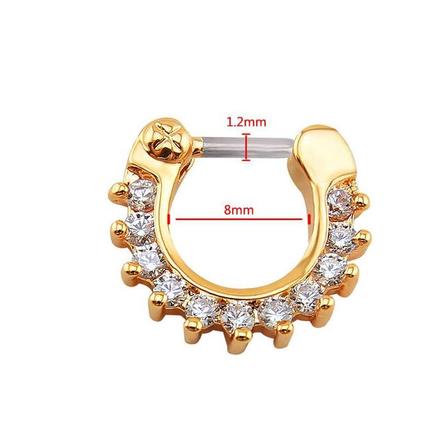 16G Nose Piercing Ring Indian Nose Septum Ring Clicker Nose Rings
