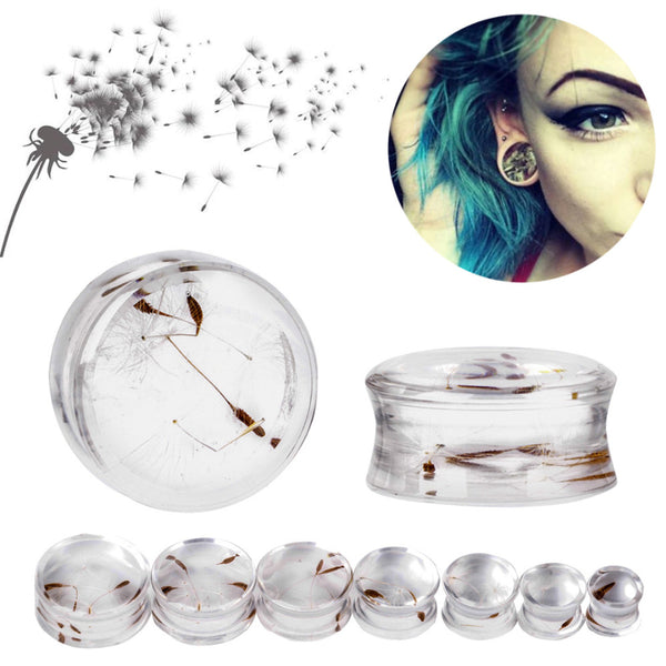 1 Pair 10mm-22mm Ear Expander Body Piercing Tunnels Jewelry Natural