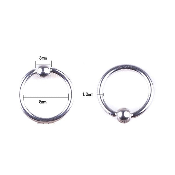 2 PCS Surgical Stainless Steel Eyebrow Nose Lip Captive Bead Ring