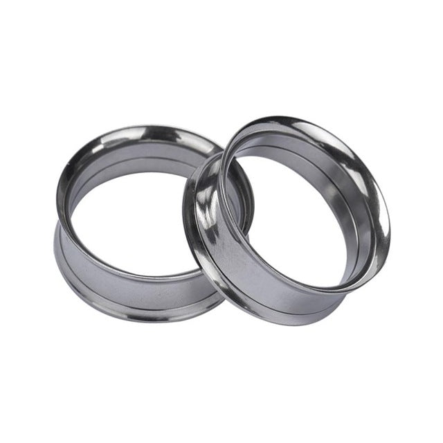 1 Pair Fashion 10mm Stainless Steel Ear Plugs and Tunnels Jewelry