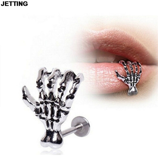 Wholesales Punk Skull Shape Devil Hand Kylie Lip Piercing Jewelry