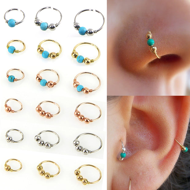 Sale Nostril Hoop Nose Ring Nose Earring For Women Girls Piercing