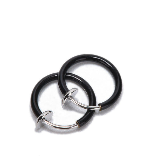 Wholesales 2Pcs Unisex Tongue Ring Goth Punk Clip On Fake Piercing