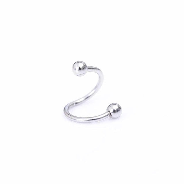 1Pc Piercing Stainless steel nose Rings S  type nose Rings color