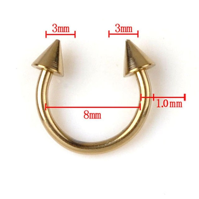 1 Pc Fashion Horseshoe Ring Piercing Surgical Steel 316l Titanium