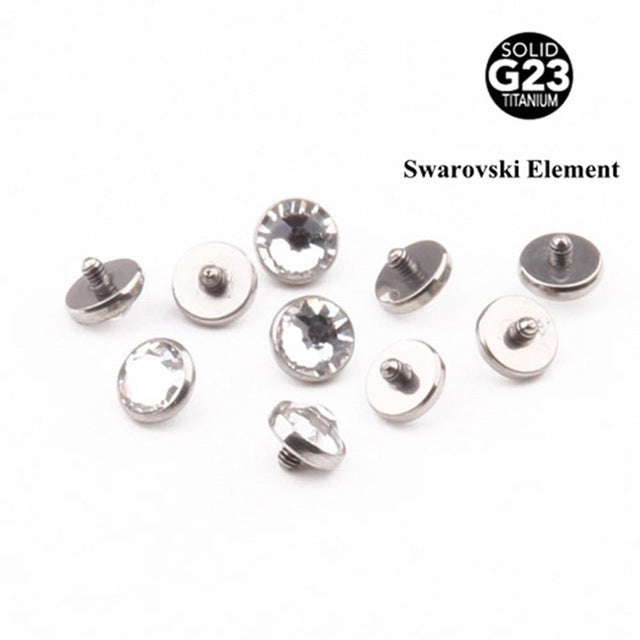 1 Piece G23 Titaniuim 316L Skin Micro Piercings 1.6*2mm*3/4/5mm Body
