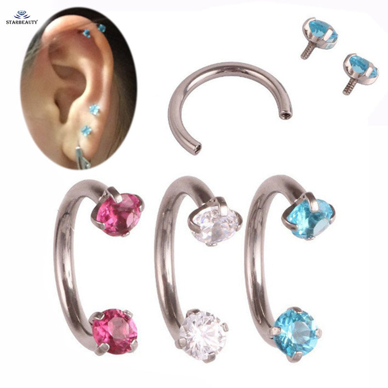 1Pc  361L Earring Internal Piercing Septo Nose Lip Eyebrow Ear