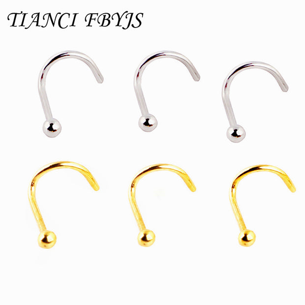 women's nose studs nose rings stainless steel with BALL piercing