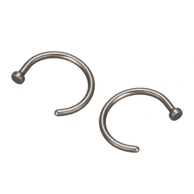 Gofuly Best Selling 2PCS Stainless Steel Nose Open Hoop Body