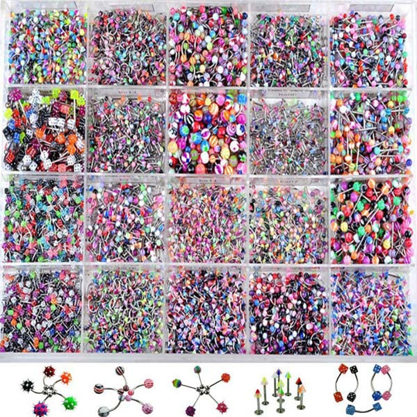 110Pcs Wholesale Shellhard Mix Styles Stainless Steel Body Piercing