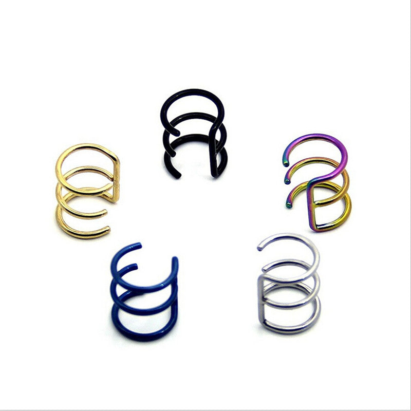 Stainless Steel Nose Rings Studs Fake Septum Piercing