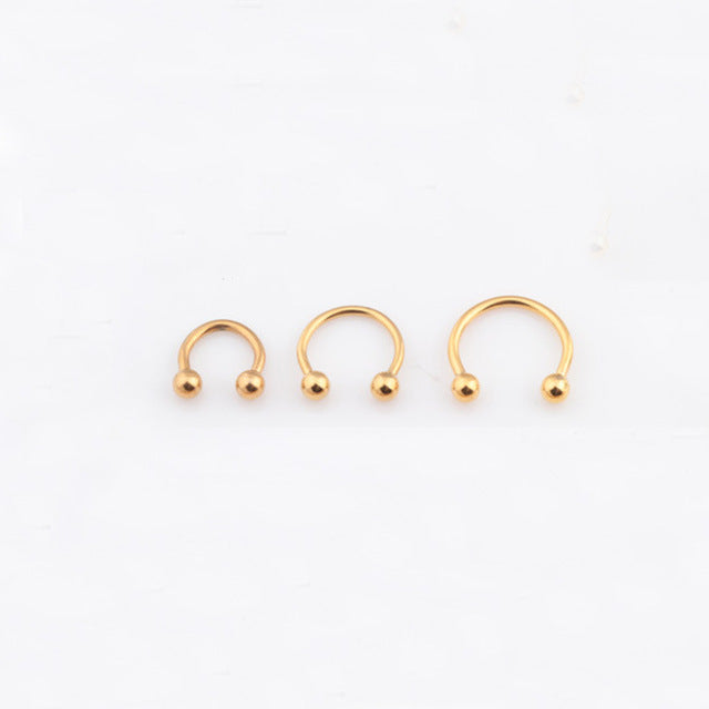 Sale 2 Pcs 4 colors Stainless Steel Nostril Nose Ring Sircular