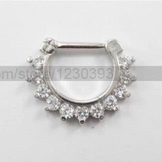 HOT Body Jewelry Nose Stud Stainless Surgical Steel Septum Clicker