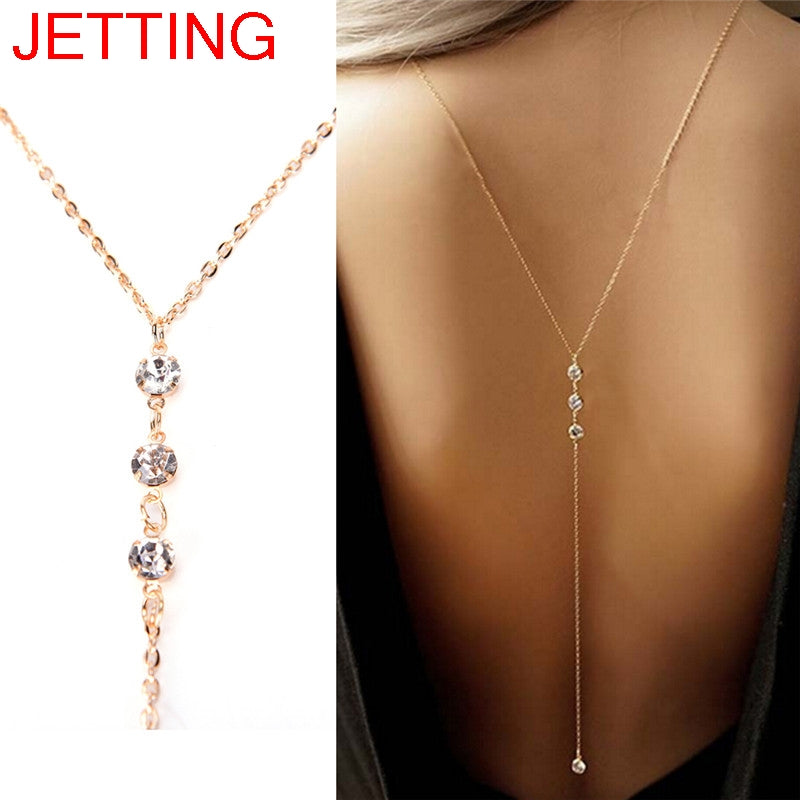 neck gold sexy long women new choker jewelry chains metal products fashion accessories waves body beads harness necklace chain balls trendy thin