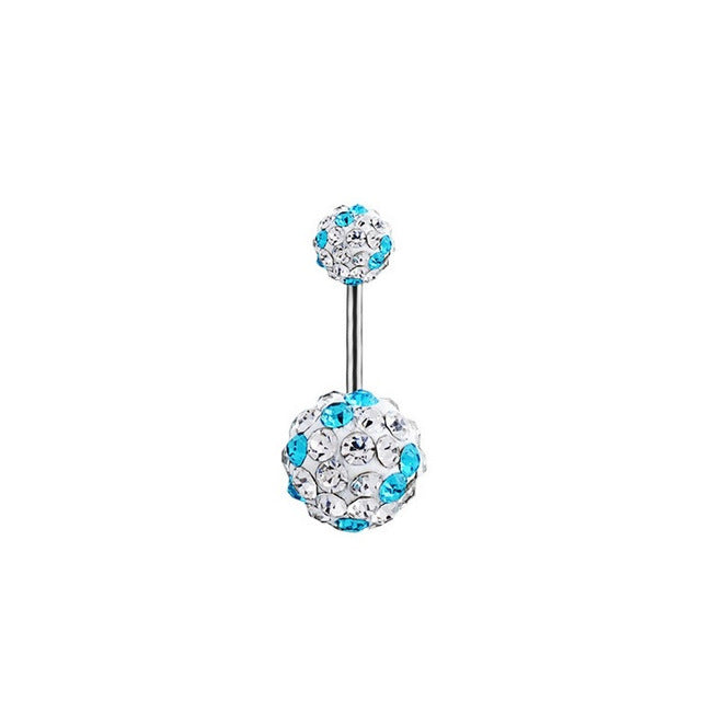 1 Piece High Quality Crystal Balls Navel Piercing Sexy Belly Button