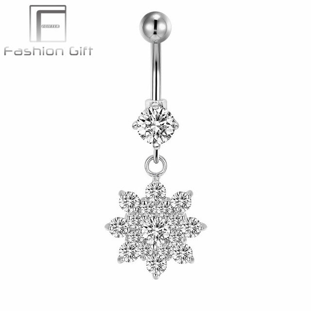 16 Gauge G23 Titanium Anti Allergic Navel Piercing for Women Long