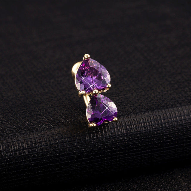 16 High Quality Wholesale Crystal Gold Silver Lip I Shaped Earring