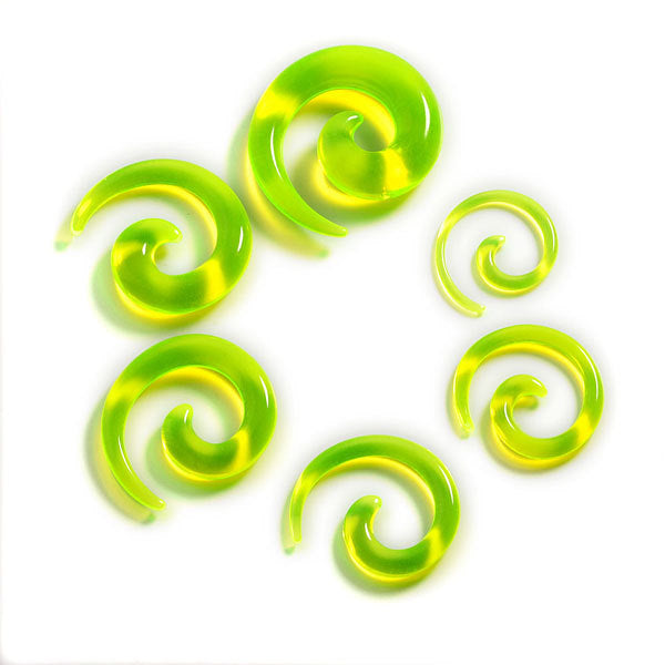 12Pcs/set Acrylic Spiral Ear Stretching Tapers Body Jewelry Acrylic